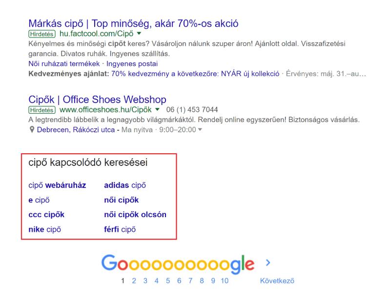 Kulcsszókutatás ötletek Google