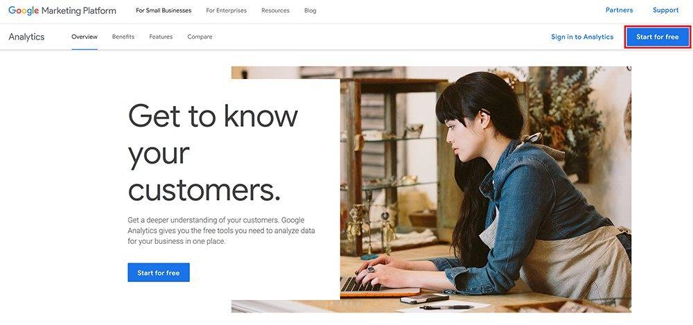 Google Analytics regisztráció