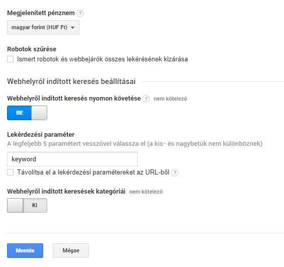 Google Analytics nyomonkövetés