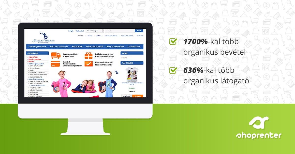 0ee6db6458 Hogyan növelte 17-szeresére bevételeit a Lyamar.hu webáruház a SEO  segítségével - ShopRenter Blog
