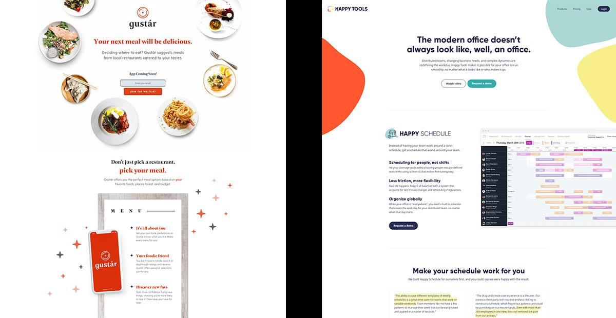 Webdesign: Egyoldalas design
