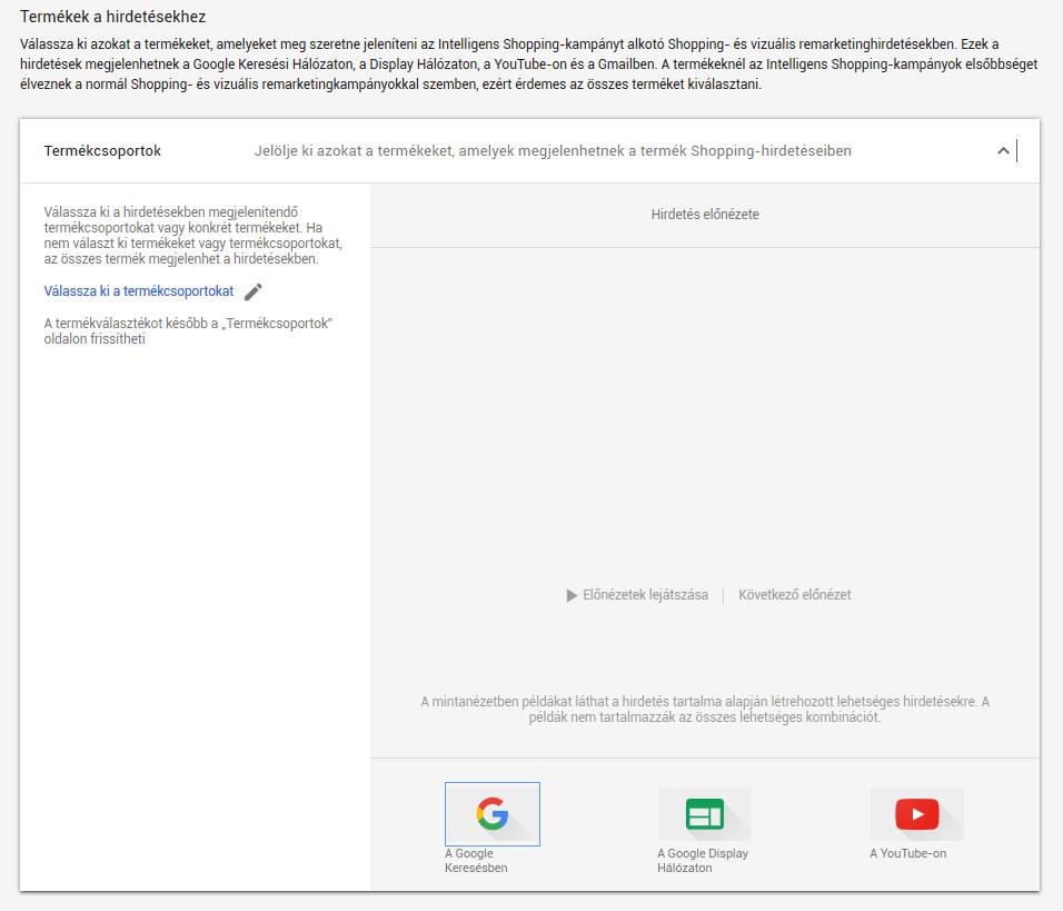 Google Shopping beállítása