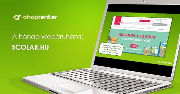 2019. Július Hónap Webáruháza: Scolar.hu