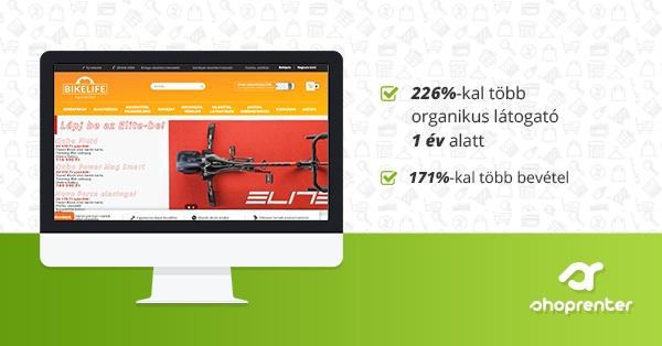 Így növelte a BikeLife.hu 226%-kal az organikus látogatók számát 1 év alatt a SEO-val!