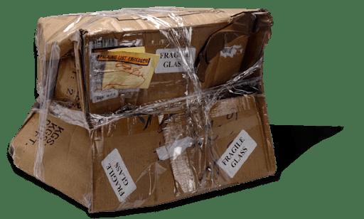 Sérült csomag