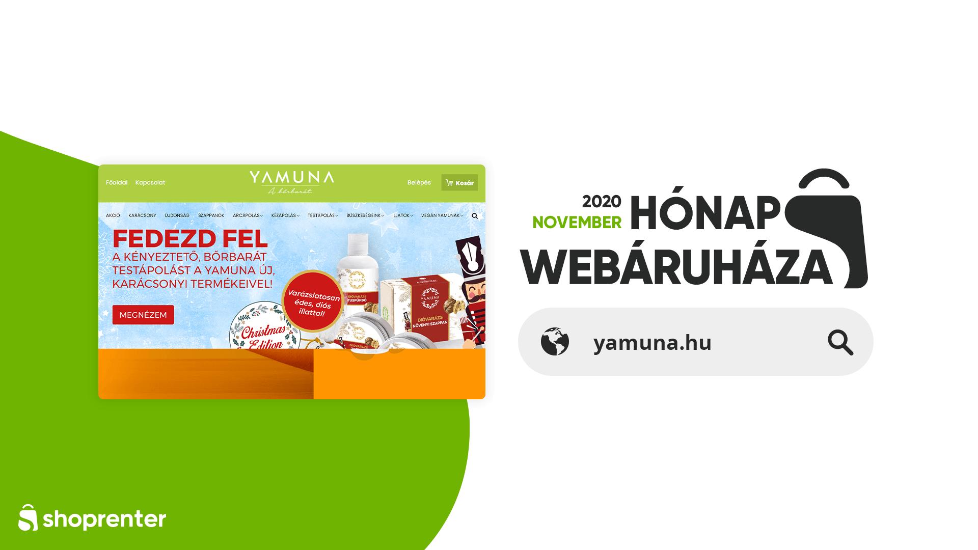 Hónap Webáruháza_Yamuna.hu