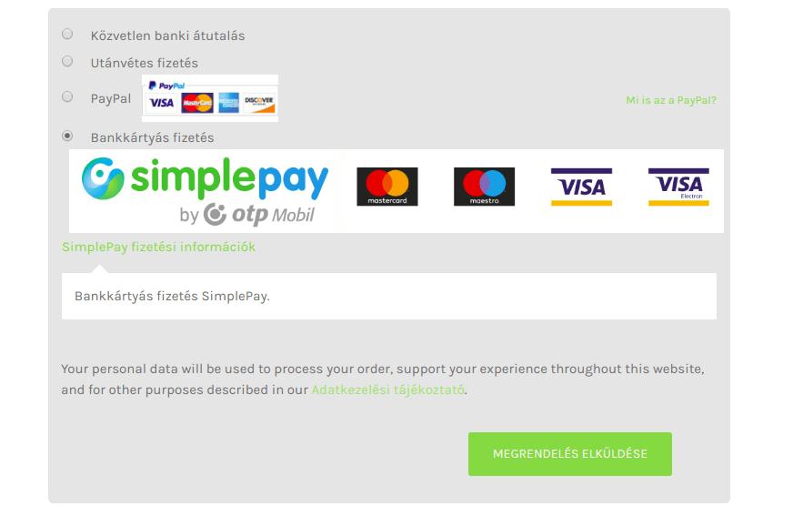 Bankkártyás fizetés webshopban
