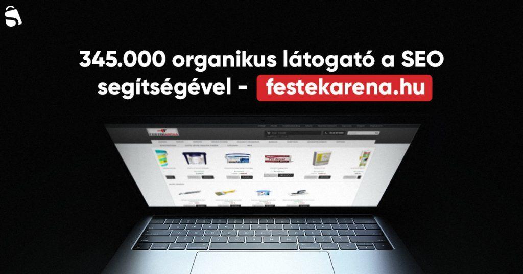 Organikus forgalom SEO-ból FestékAréna.hu