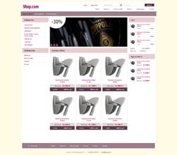 Webáruház sablon - Általános lila