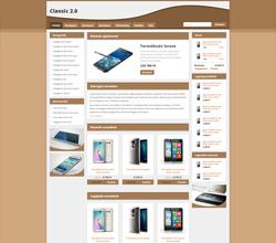 Webáruház sablon - Classic 2.0 Sabloncsalád cappuccino
