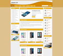 Webáruház sablon - Classic 2.0 Sabloncsalád gold