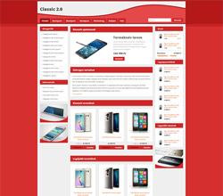 Webáruház sablon - Classic 2.0 Sabloncsalád red