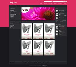 Webáruház sablon - dark pink