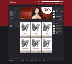 Webáruház sablon - dark piros