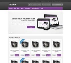 Webáruház sablon - Europa violet