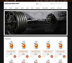 Webáruház sablon - Kaméleon bodybuilder