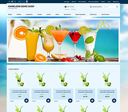 Webáruház sablon - Kaméleon Sabloncsalád cocktail