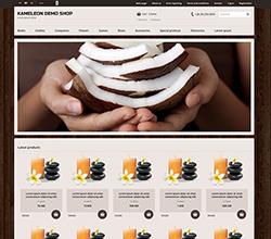 Webáruház sablon - Kaméleon Sabloncsalád coconut