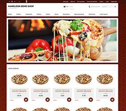 Webáruház sablon - Kaméleon pizza