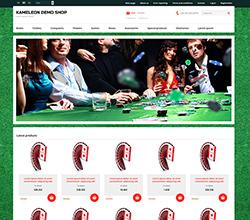 Webáruház sablon - Kaméleon poker