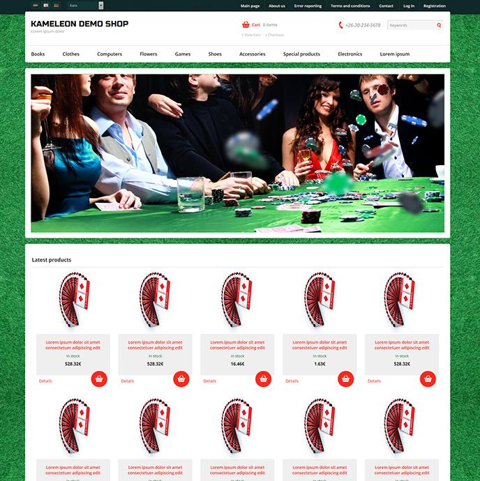 Webáruház sablon - Kaméleon Sabloncsalád poker