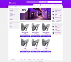 Webáruház sablon - Light lila