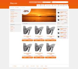 Webáruház sablon - Light narancs