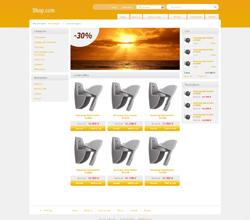 Webáruház sablon - Light narancs2