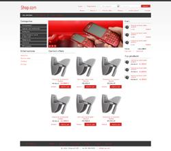 Webáruház sablon - Minimal piros