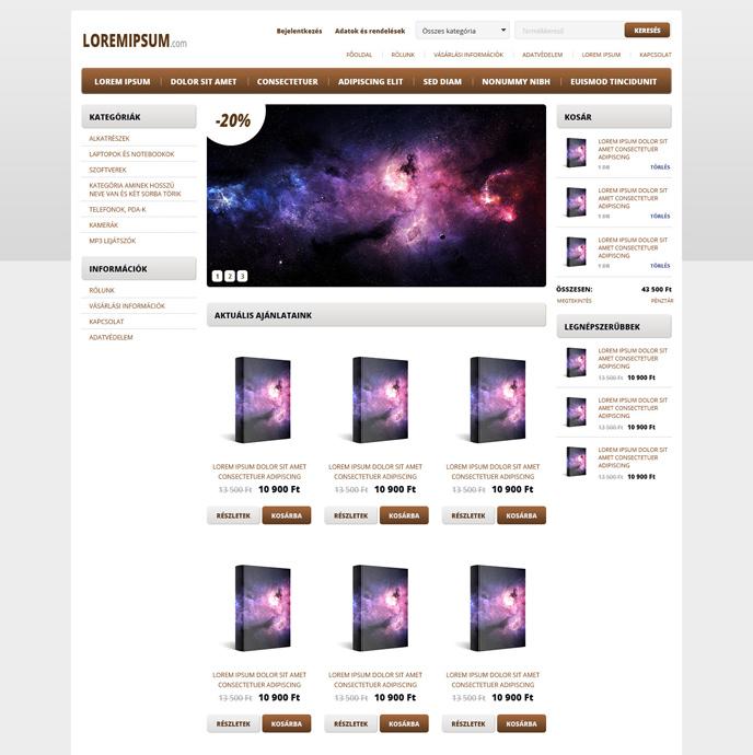 Webáruház sablon - Modern 2.0 brown