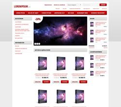 Webáruház sablon - Modern 2.0 red