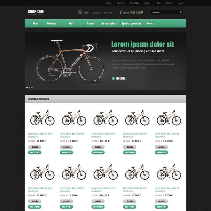 Webáruház sablon - Pandora green