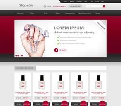 Webáruház sablon - Royal red