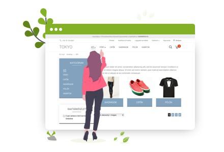 Webáruház bérlés - Testreszabható termékoldalak
