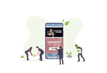 Mobilra optimalizált kinézet