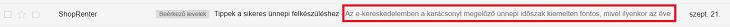 Előnézet Gmailben
