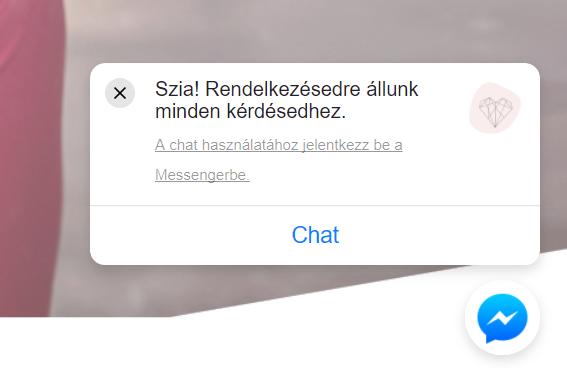 Messenger chat ablak