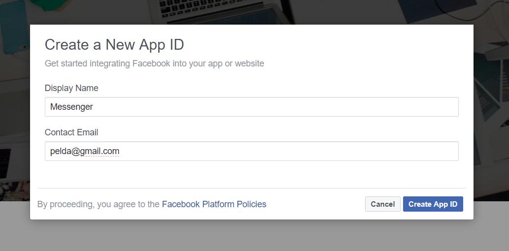 App ID létrehozása