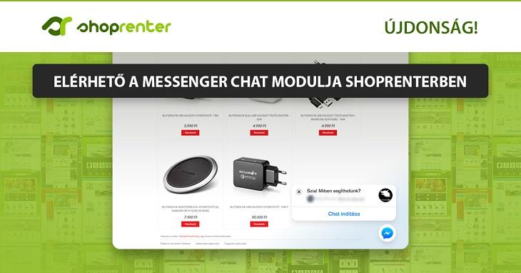 Elérhető a Messenger chat modulja ShopRenterben