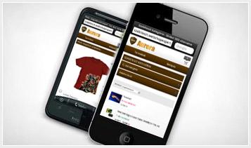 Mobilra optimalizált webáruház