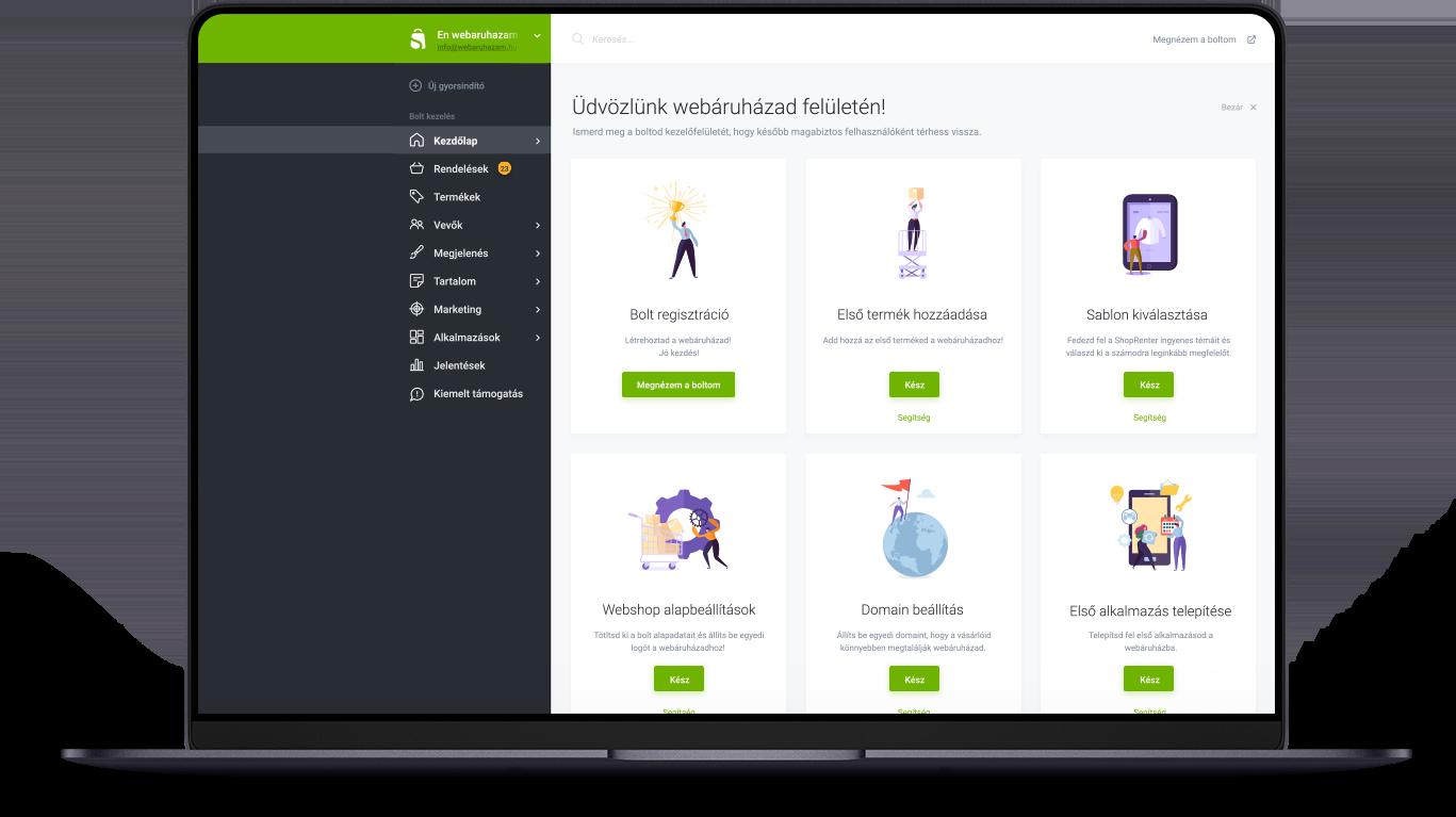 Professzionális webáruház rendszer
